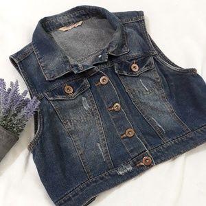 Crop top jean  jacket